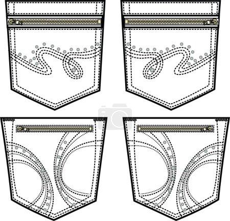 Back pocket design with details