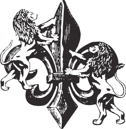 Illustration pour Fleur de Lys - image libre de droit