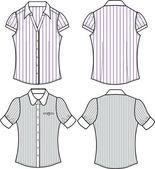 Lady fashion stripe tops