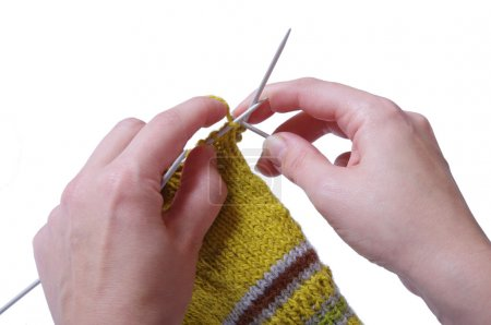 Knitting a sock