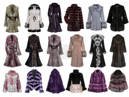 Photo for Fur coat collection - Royalty Free Image