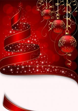 Christmas tree with stars and balls