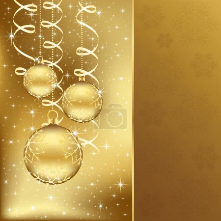Elegant christmas background with golden balls