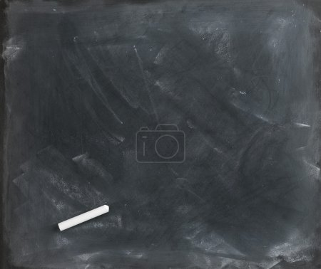 Photo for Used textured blank blackboard straight on ready for your copy - Royalty Free Image