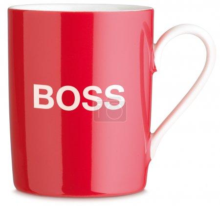Red boss mug