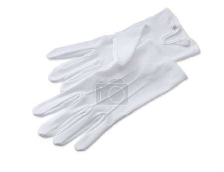 Butlers white gloves isolated on white with clipping path