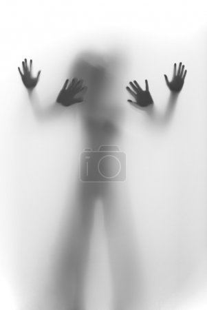 A male and a female human body silhouette behind a...