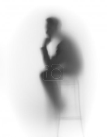 Thinking man abstract silhouette