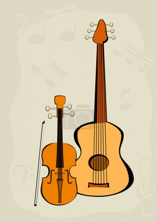 Violin, quitar and notes
