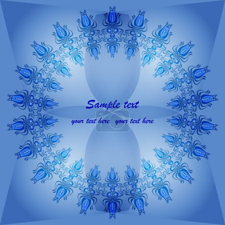 Invitation florale bleue
