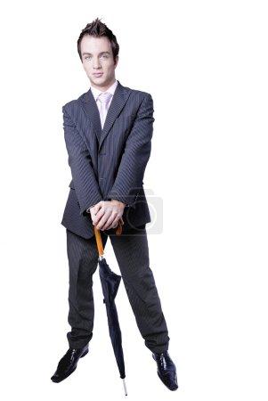 Business with umbrella