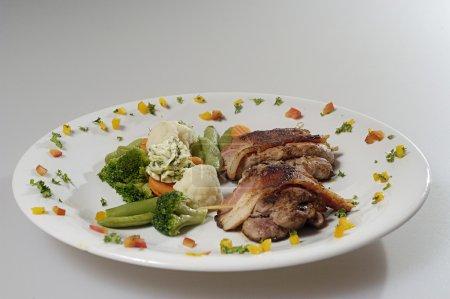 Pork steak with vegetable