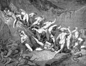 The thieves tormented by serpents