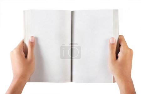 Gesture of hand holding a book
