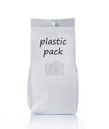 Blank plastic food pack