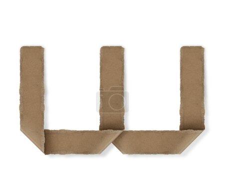 Origami-Stil Alphabet Buchstaben w