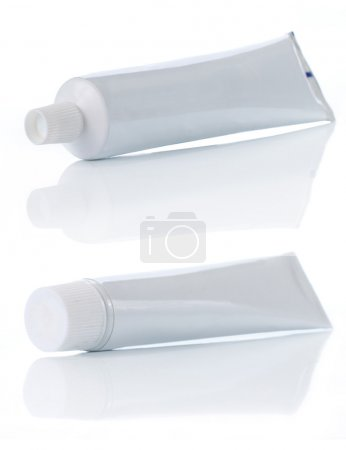 Tooth paste over white background