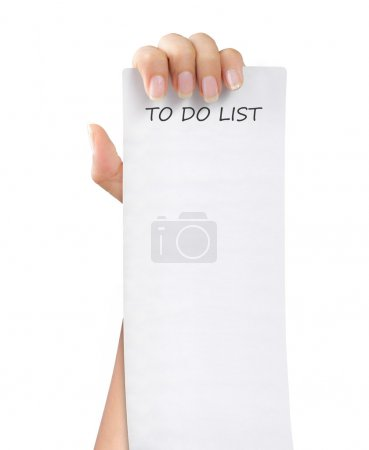 To do list paper note