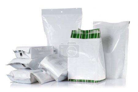 Foto de Grupo de paquete del producto. aislado sobre fondo blanco - Imagen libre de derechos
