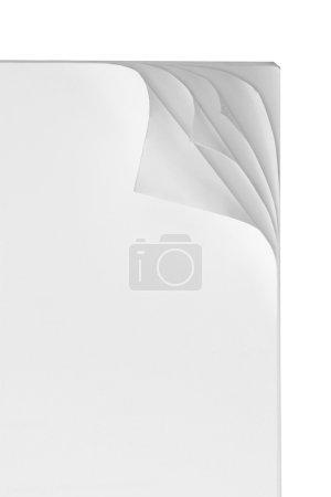 Photo pour Papier curl avec multi couche curl isolé sur blanc - image libre de droit