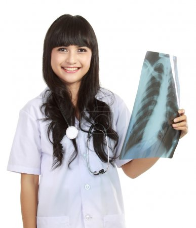 Female doctor holding an x-ray