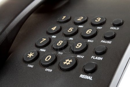 Close up Digital desk phone