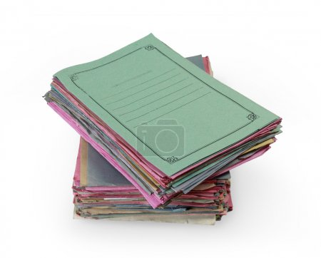 Stacks of colorful folders