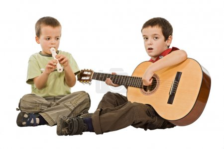 Children playing with instruments