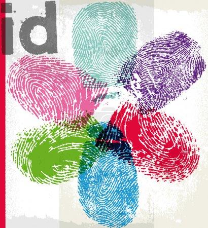 Finger print id. Vector illustration