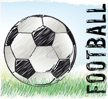 Soccer ball sketch, vector illustration