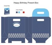 Blue background Gift Box