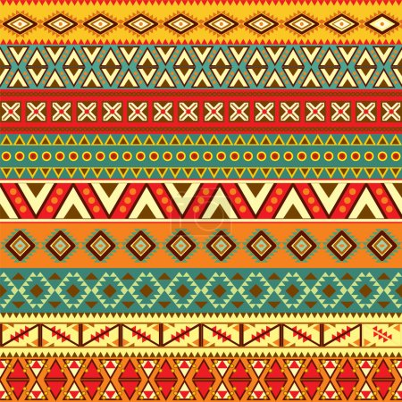 Illustration for Various strips motifs in different color - Royalty Free Image
