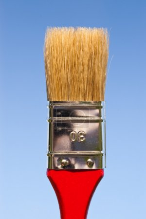 Paintbrush on sky