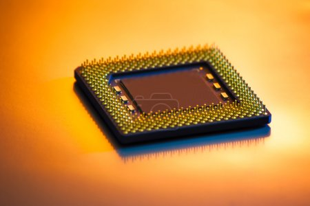 Photo for Computer CPU processor whith shallow deptth of field - Royalty Free Image