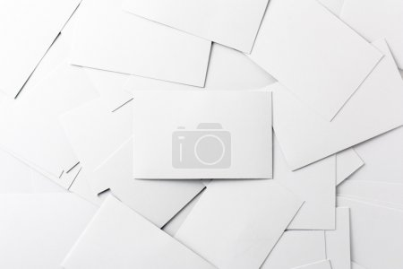 Photo for Scattered White Business Cards - Royalty Free Image