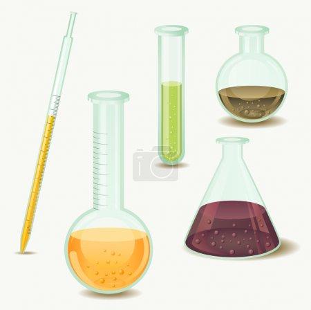 Illustration for Laboratory bottles - Royalty Free Image