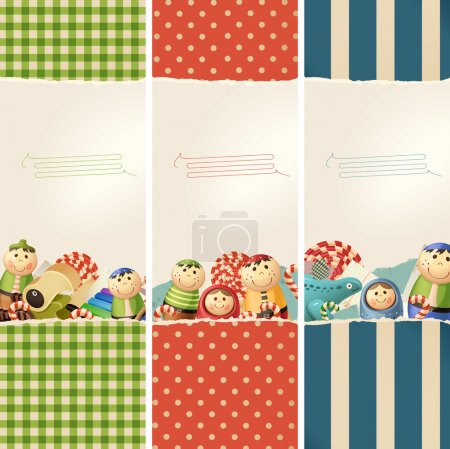 Toys & paper - banners