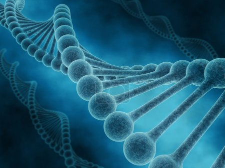 Photo for 3D render of DNA strands on abstract background - Royalty Free Image