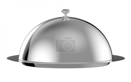 Photo for Restaurant cloche with lid - clipping path included - Royalty Free Image