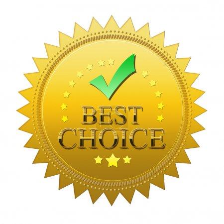 Photo pour Meilleure étanchéité de choix - isolée sur fond blanc - image libre de droit