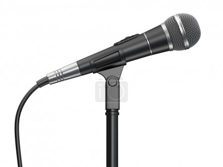 Microphone isolated on white background...