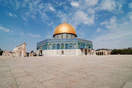 The dome of the rock in Jerusalem...