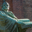 Statue of Martin Luther in front of the St. Mary C...