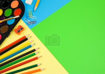 Back to school on colorful paper