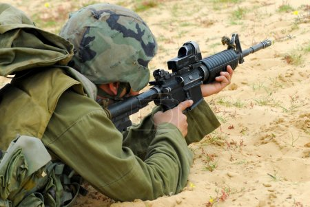 M16 Israel Army Rifle Soldier