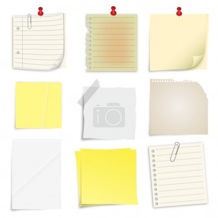 Set of post it notes