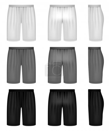Vector shorts - shades of gray clothing set