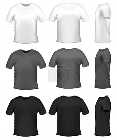 Illustration pour Polo homme t-shirts - image libre de droit