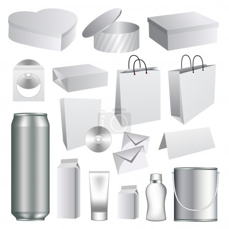 Illustration pour Collection de templates d'emballage vide - image libre de droit