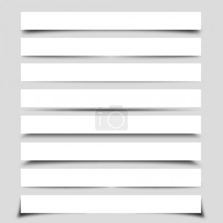 Illustration for Collection of Vector Box Shadows - Royalty Free Image